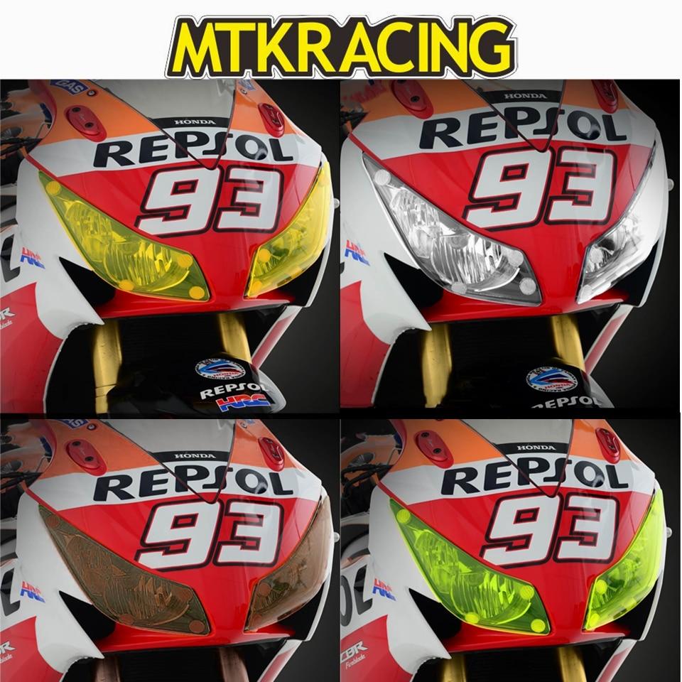 MTKRACING PARA HONDA CBR CBR1000RR 1000RR CBR1000 RR 2014-2016 motocicleta Farol Protector Tampa Da Lente Tela Escudo