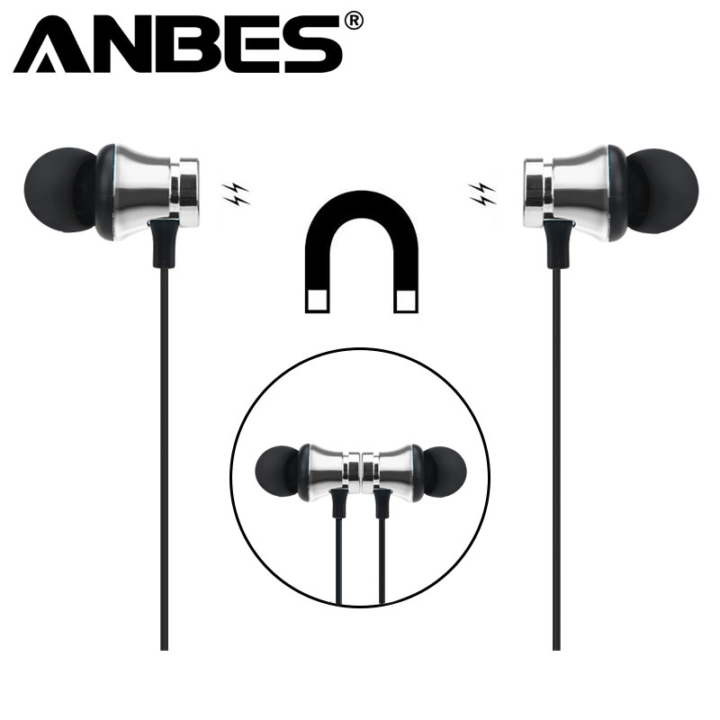 ANBES Wireless Sports Bluetooth Earphone Bass Stereo Running In-ear Sweatproof Headset with Microphone Earpiece for Xiaomi fashion bluetooth csr running in ear earphone stereo bass sport wireless headphone with microphone for mobile phone headset