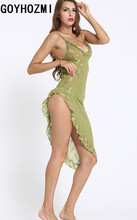 Sexy lingerie for women Baby Dolls sex products Exotic lingerie intimates sexy costumes women's sexy Green flounced dress