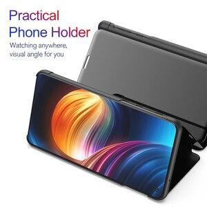 Image 3 - Spiegel Flip Fall Für Samsung Galaxy A30 A70 A40 Smart Buch Abdeckung für Samsung A50 a20e EINE 30 40 50 70 50a 30a 70a 2019 stehen Funda