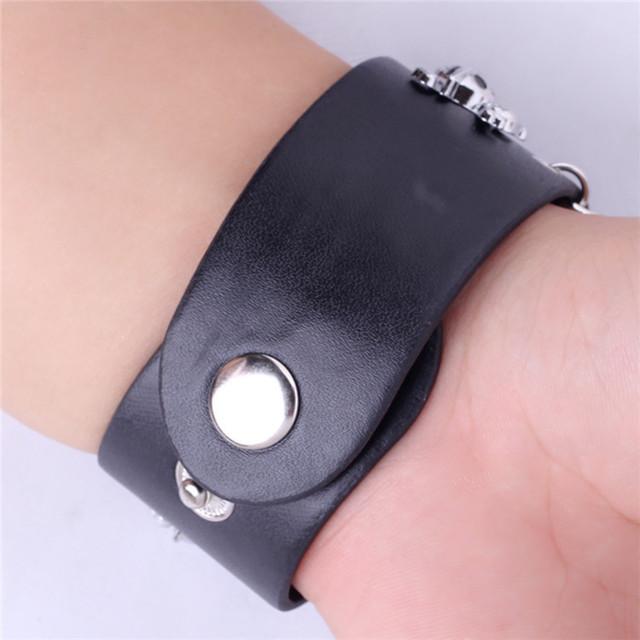 Leather Punk Bracelet