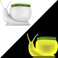 LED Snail Night Light Ecological Plant Table Atmosphere Lamps USB Micro