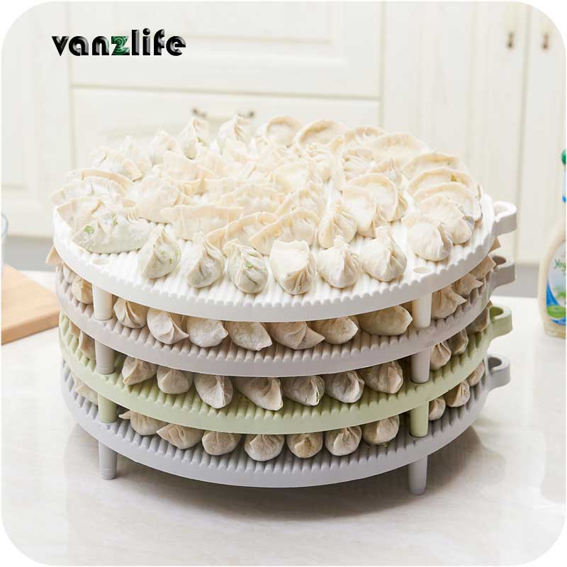 vanzlife Dumpling covered mats steamed stuffed bun pad refrigerator dish water tray round curtain plastic thick multi-layer