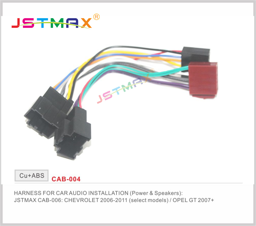 hight resolution of jstmaxiso radio plug for chevrolet 2006 2011 saab 9 5 1998 wiring harness adapter connector adaptor free shipping worldwide in cables adapters sockets