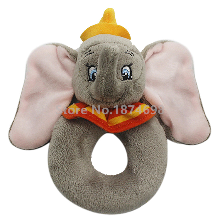 Comfort Blanket or Soft Toy Small, Medium,Large Disney Baby Dumbo Ring Rattle