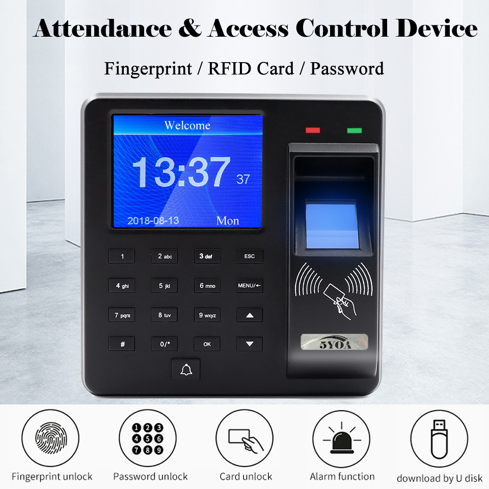 Image 4 - BX6 BX10 Biometric Fingerprint Access Control Intercom Machine Digital Electric RFID Code System For Door Lock Keys Tags-in Fingerprint Recognition Device from Security & Protection
