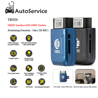 New GPS OBD 2 Real Time GSM Quad Band Anti theft Vibration Alarm GSM GPRS Mini GPRS Car Tracker Tracking OBD II With Box TK206