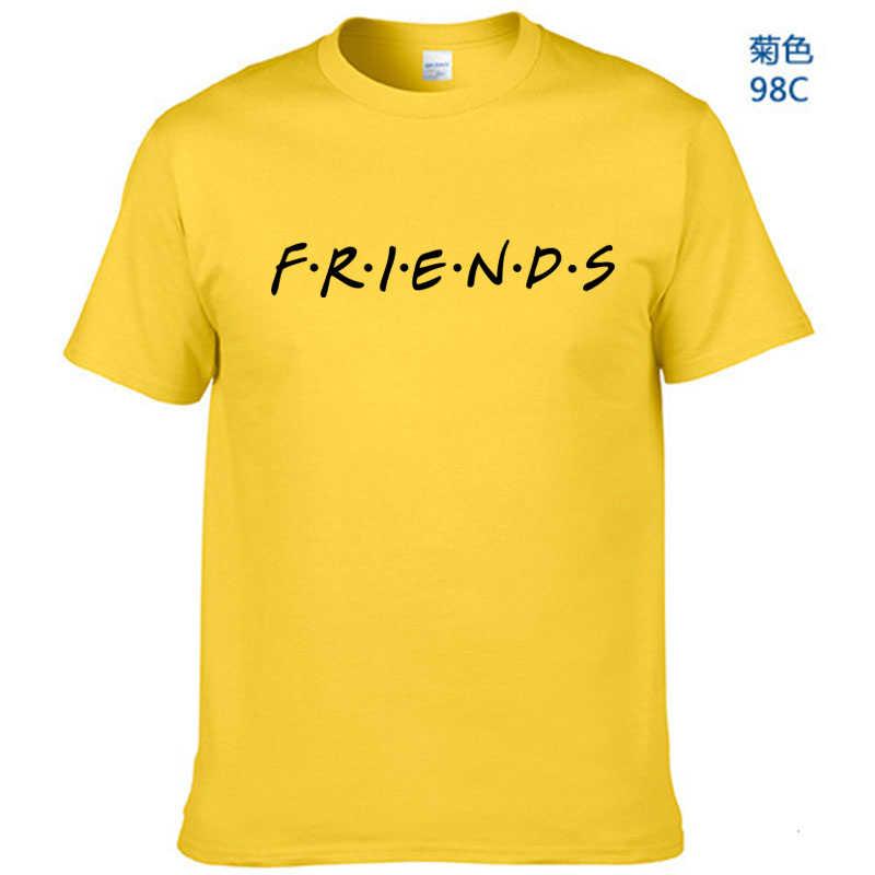 Di NUOVO Modo di Marca T Shirt Uomo Manica Corta Amici TV Show Camicette In Bianco del Regalo Pantaloni A Vita Bassa Per Gli Adulti T-Shirt Camisetas