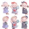 Top qualidade Conchas luvas fantoche da boneca do bebê boneca calma bebê brinquedos do bebê 0-3 meses jardim de infância educação fantoche