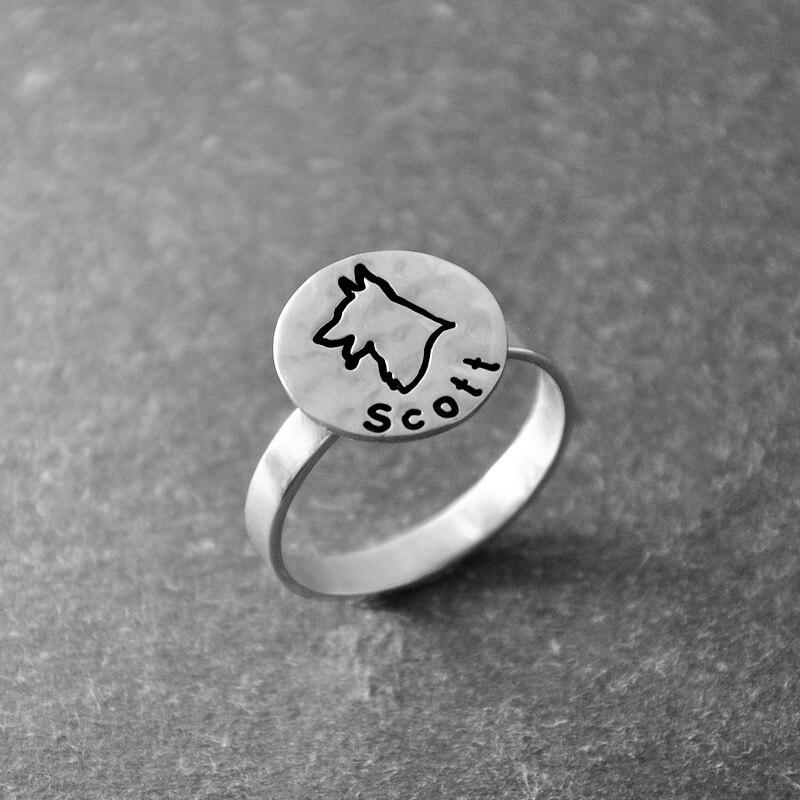 German Shepherd ring, Engravable Ring, Custom Engraving, Silver Dog Ring,Personalized dog name , hammered animal ring цепочка german silver 46sm page 9
