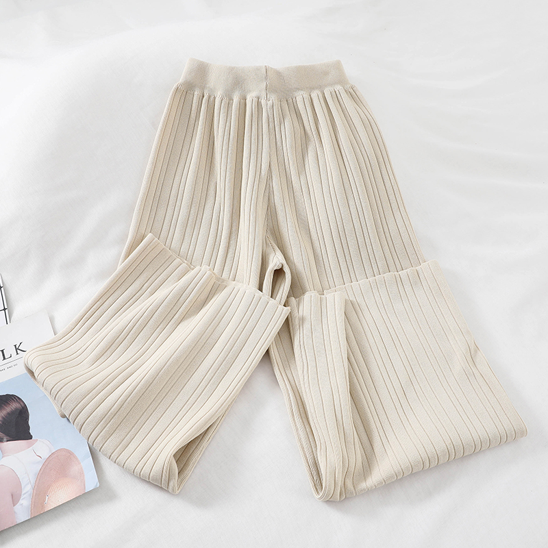 Image 4 - Chic New Loose Sweater Top High Waist Wide Leg Casual Pants Knitting Two Pieces Set Sweat Suits Matching Sets for WomenWomens Sets   -