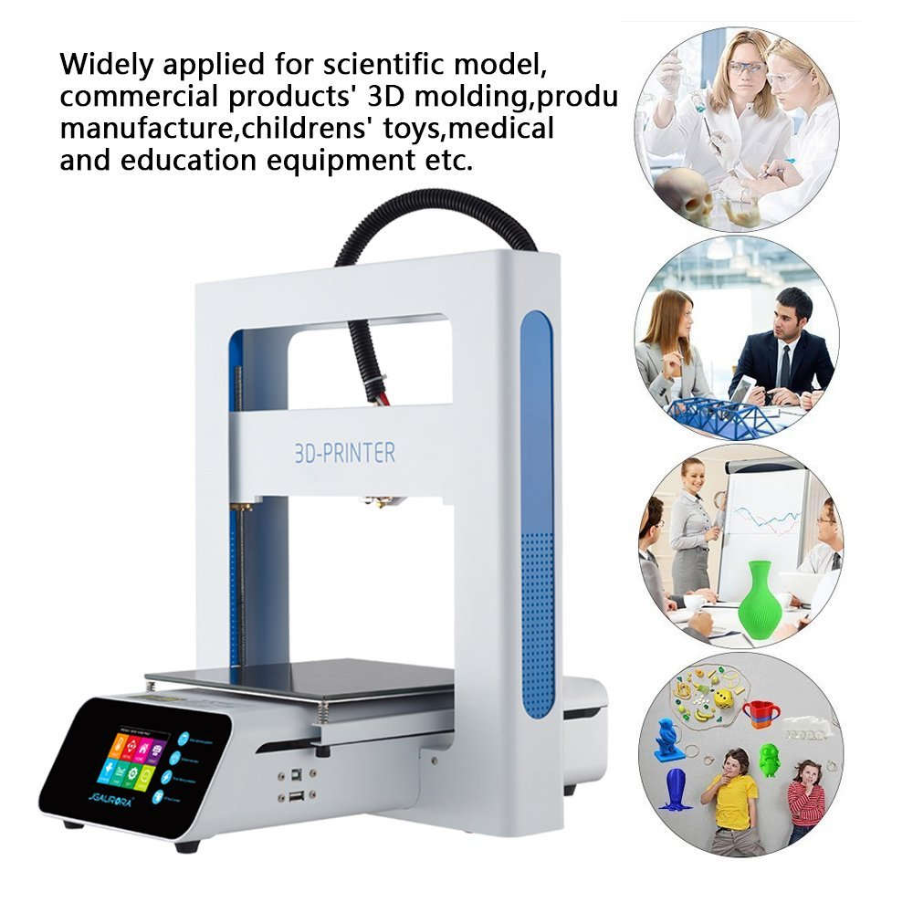 JGAURORA A3S 3D Printer Fully Metal Easy Assembly High Accuracy 205*205*205mm Build Size with Free Gifts