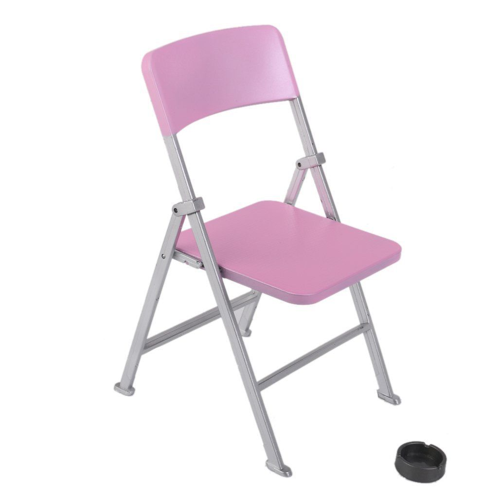 New 1 6 Scale Dollhouse Miniature Furniture Folding Chair for font b Dolls b font Action