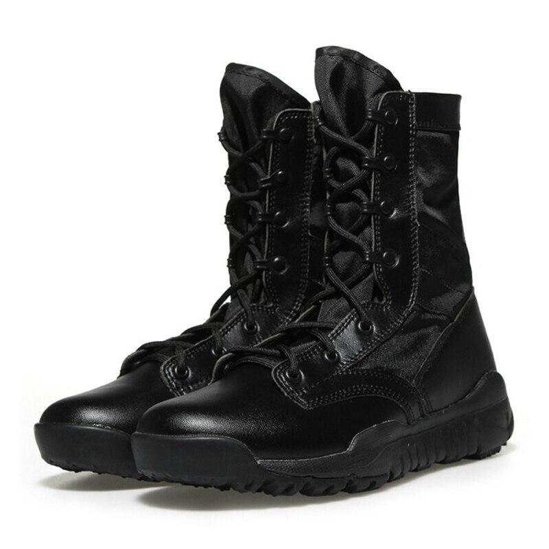 Tactique D'été Air Respirant Combat Lumière Plein Bottes En jaune Chaussures Militaire Hommes De Noir Hombre Travail Armée Botas pxqdYcw