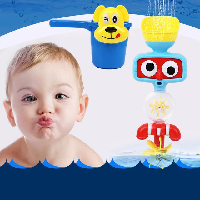 Grifo de la Ducha de Baño Ducha de bebé Juguetes No Tóxicos Juguetes de Baño Niños Piscina de Agua de la Ducha de Pulverización Herramienta Escarceos Juguetes Para Los Niños
