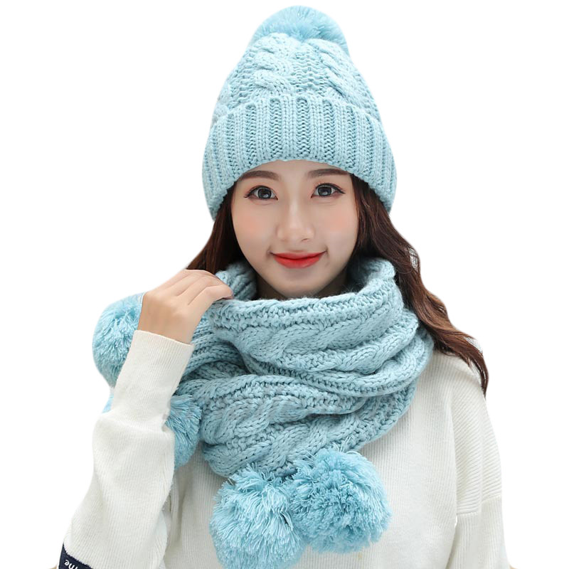 2018 Autumn Winter Women Hats Fashion Brand Hats Scarf Knitted Two Pieces Set Women Gorros Casual Cap Scarf Chapeu Feminino Bone
