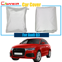 Cawanerl Car Cover Outdoor Anti UV Sun Shield Snow Rain Resistant Cover Car Protection Cover Dustproof For Audi Q3