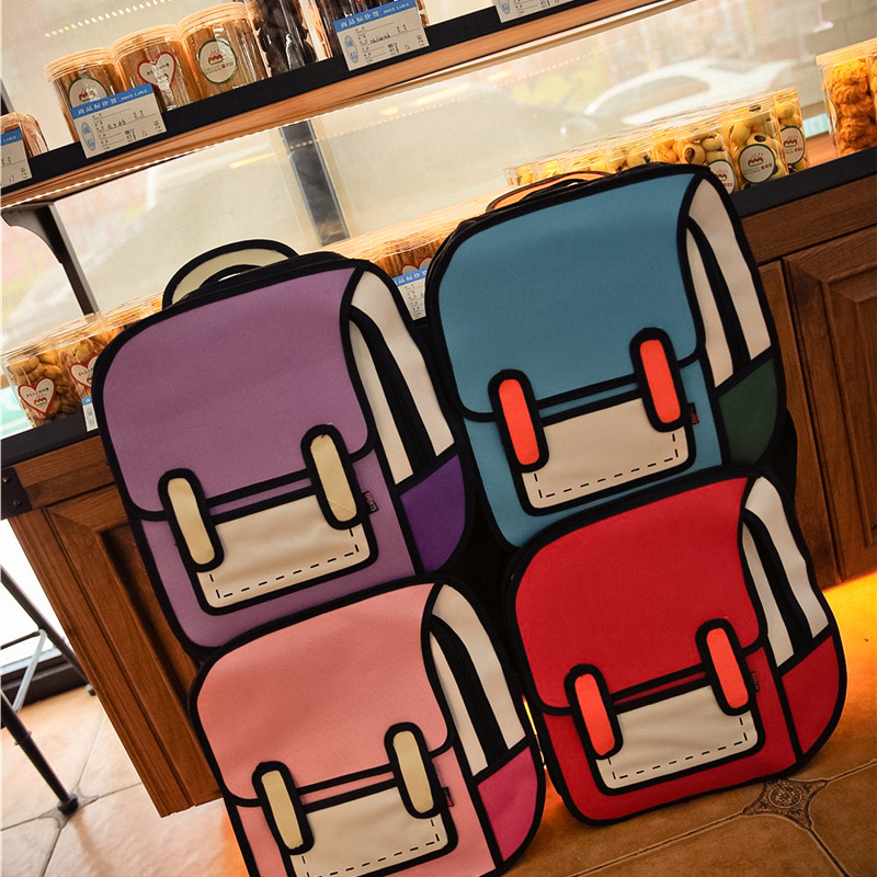 Fashion 3D anime bag Cartoon women men backpacks cute Canvas double shoulder bags for teenagers 2D Travel Drawing Book mochila aosbos fashion portable insulated canvas lunch bag thermal food picnic lunch bags for women kids men cooler lunch box bag tote