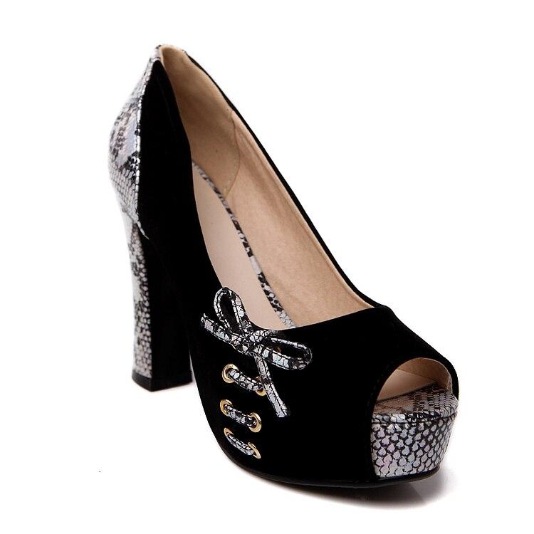 bleu Pompes Femmes Toe Sexy Serpent Nouveau Top Peep Noir Talons Qualité 2018 rouge Désherbage Hauts Imprimé Chaussures Parti qgIaOwg