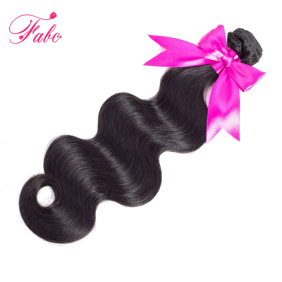 Fabc Hair brazilian body wave bundles 10-28 inch Remy Human Hair Extensions wavy hair bundles Natural Color No Tangle
