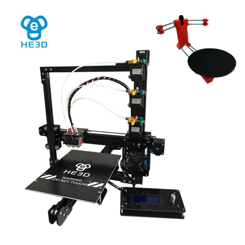 Set sale,NEWest HE3D EI3 tricolor 3D printer diy kit,adding open sourse 3D scanner DIY kit цены