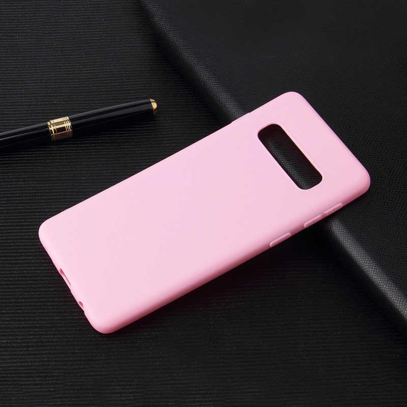 Doce Cor Matte em Tpu Para Samsung Galaxy S10 S9 S8 Plus S10e S7 Borda A7 A8 A6 Plus A9 2018 A6S A8S A8 A9 Star Lite Cobertura