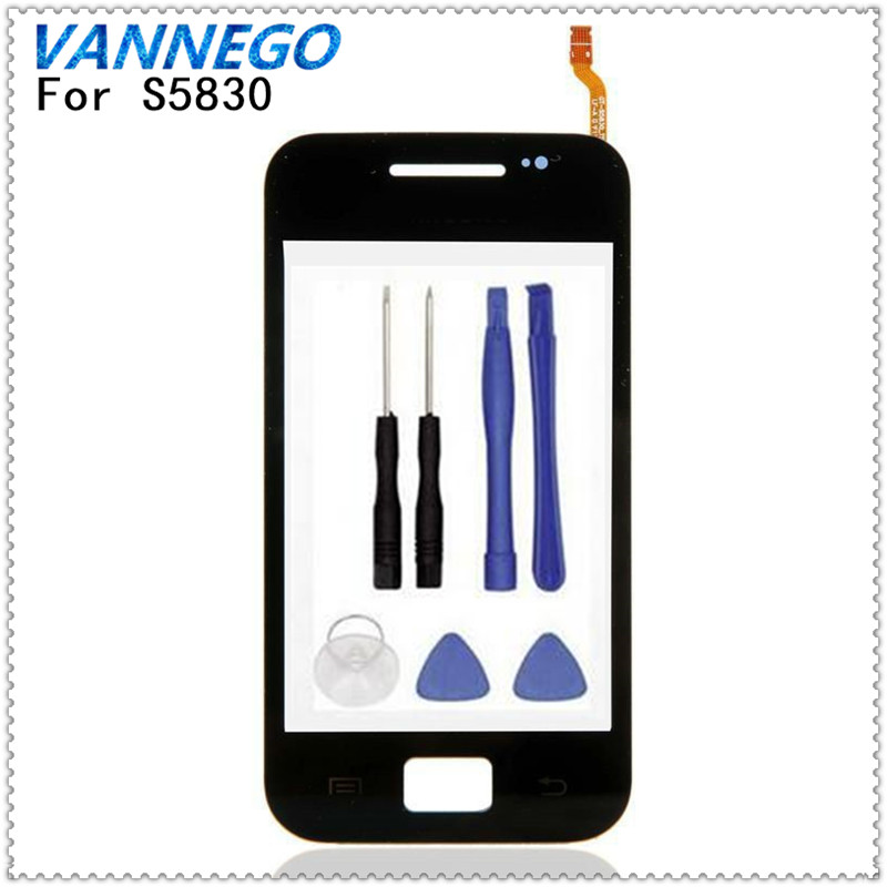 Vannego Original For Samsung Galaxy Ace S5830 S5830i GT-S5830 Window Glass Digitizer Touchscreen Replacement Parts