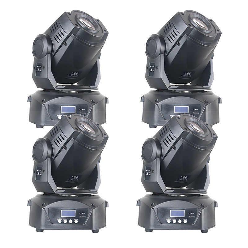 4 Buah/Banyak 90 Watt 7 Warna 8 Gobo Stage Moving Head 90 W LED Optik Tempat Bergerak Lampu Panggung Mengikuti spot Light untuk Band Club Bar