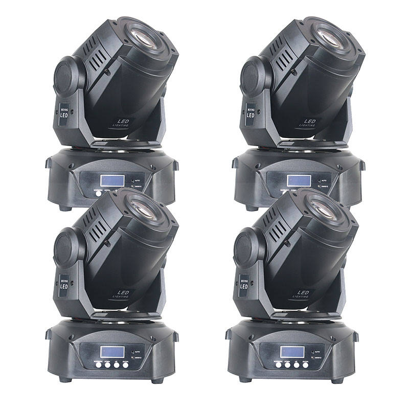 4pcs/lot 90 watt 7 Color 8 Gobo Stage Moving Head 90w Optical LED Spot Moving Light Stage Follow Spot Light for Bands Club Bar