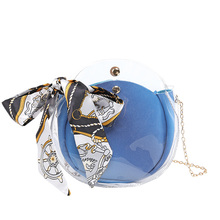 PU Material Messenger Bag Trend Transparent Child Fashion Wild Shoulder Mobile Phone Coin Purse 2019 Summer New Women