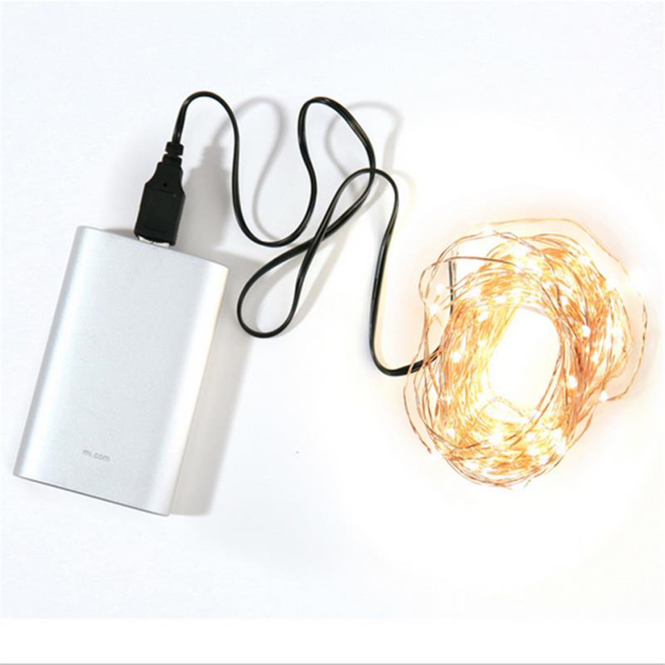 USB Holiday Decor  Christmas Lights Outdoor  Home Decor Bottle Glass 2m 5m 10m 12m 20m Diwali Decorations  Fairy Lights