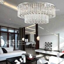 Современная гостиная потолочный светильник кристалл лампы освещения лампы мода круглый Спальня лампа Зал D800XH320mm бесплатная доставка