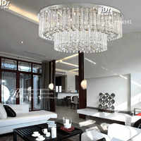 Moderna sala de la lámpara de techo de cristal lámparas de iluminación redonda moda dormitorio salón lámpara D800XH320mm envío gratis