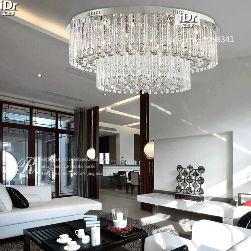 US $556.0 60% OFF|Moderne wohnzimmer decke kristall lampe beleuchtung  lampen mode runde Schlafzimmer lampe Halle D800XH320mm kostenloser  versand-in ...