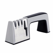 Knife Sharpener 4 in 1 Diamond Coated & Fine Ceramic Rod Knife Shears and Scissors Sharpening System Stainless Steel Blades