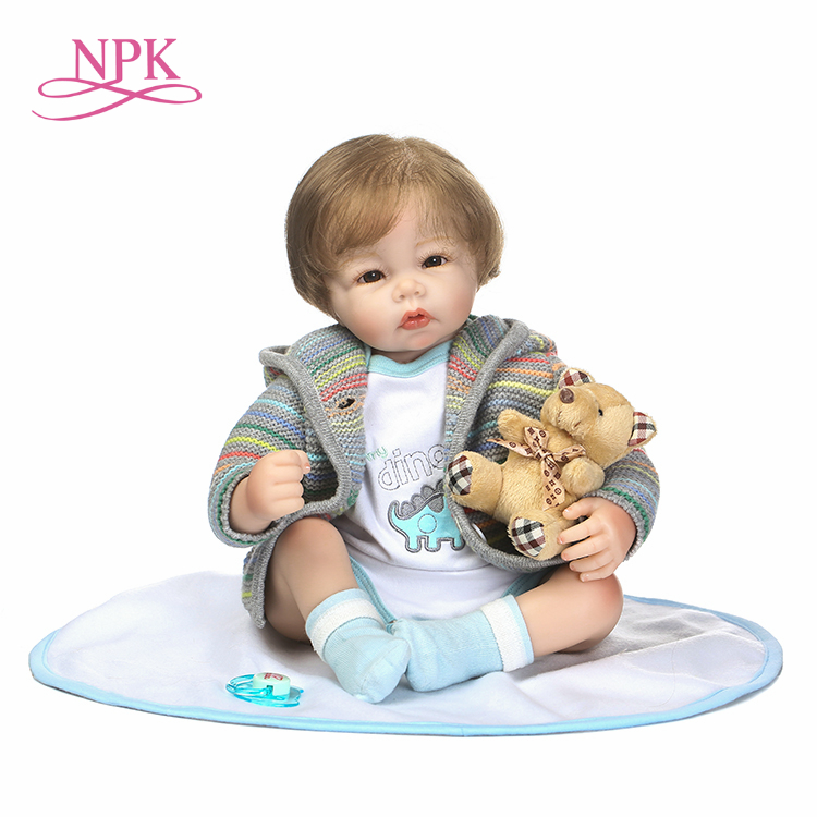 NPK new design reborn babydoll In cute Sweater clothes soft touch toys and Christmas gift for children цена