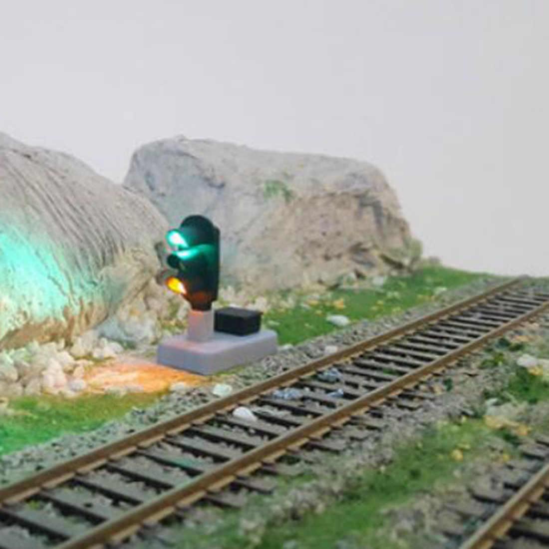 Surwish 1: 87 kolei sygnał świetlny niskie lampka sygnalizacyjna dla skali HO piasek scena-czerwony + żółty + zielony