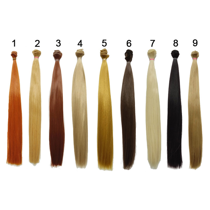 1PCS кукли аксесоари синтетични влакна DIY BJD перука коса направо кукла коса 35CM