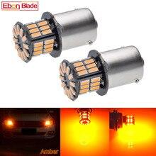 2 uds. Luz de circulación diurna S25 1156 BA15S P21W 3014 36 SMD LED Auto ámbar, Bombilla de intermitente anaranjado amarillo, lámpara de estilo de coche 12V DC