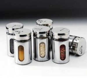 Hot Sale 6pcs/lot Kitchen Cruet Soy Sauce Bottle Potes Condiment Bottles Spice Jar Glass Stainless Steel