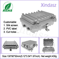 Водонепроницаемый корпус из алюминиевого корпуса 130*90*50 мм  корпус для электрического счетчика  металлическая распределительная коробка