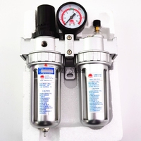 1 2 Air Compressor Oil Lubricator Moisture Water Trap Filter Regulator With Mount