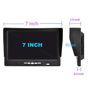 Image 5 - Yeni 7 inç IPS 2 bölünmüş ekran 1024*600 AHD araç monitörü sürüş kaydedici DVR güvenlik izleme