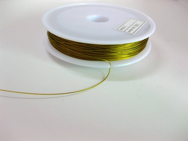 90 Metres Tigertail Wire Beading Wire Cord Thread DIY Craft Silver Gold Strong
