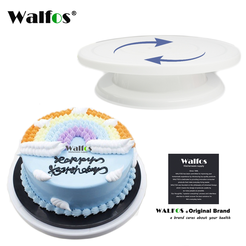 WALFOS Cake Decorating Tools Cake Stand Turntables Decorating Stand Platform Cupcake Stand Cake Swivel Plates ინსტრუმენტები