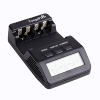 Original Opus BM100 LCD Display 4 Slot Intelligent Battery Charger For Ni MH Ni Cd AA