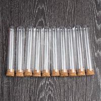 100 шт./лот прозрачный Пластик Тесты трубка с пробкой пробки круглым дном 15x100 мм Школа Лаборатории учебные пособия