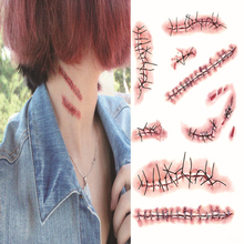 Gift Special Costume Makeup Sticker Halloween Zombie Scars Temporary Tattoo Stickers Body Art Waterproof Tattoo