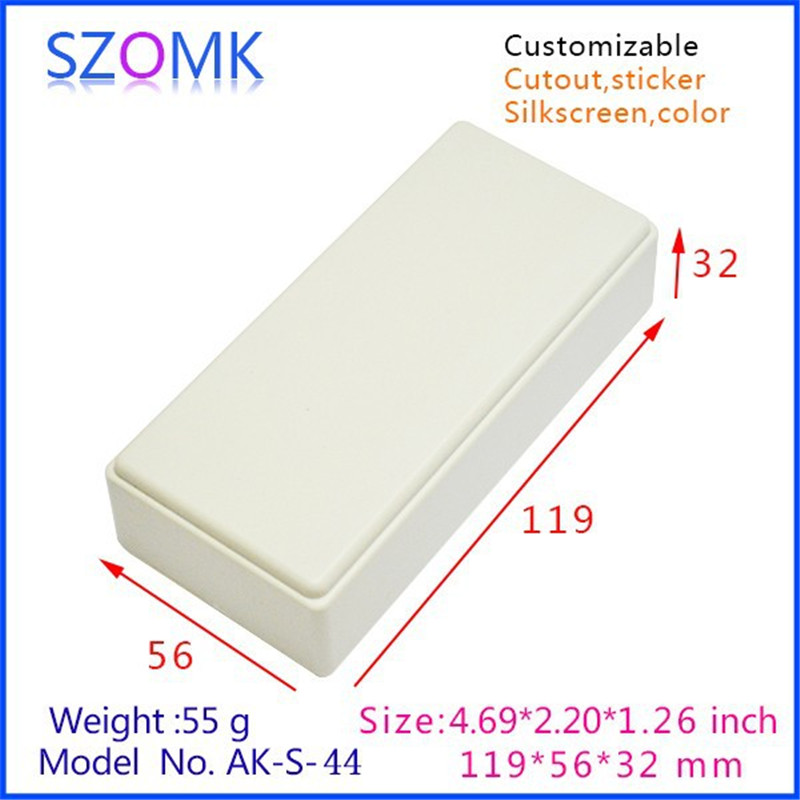 1 pc, free shipping outdoor equipment enclosure plastic housing 120*56*31mm plastic project box abs enclosures for electronics