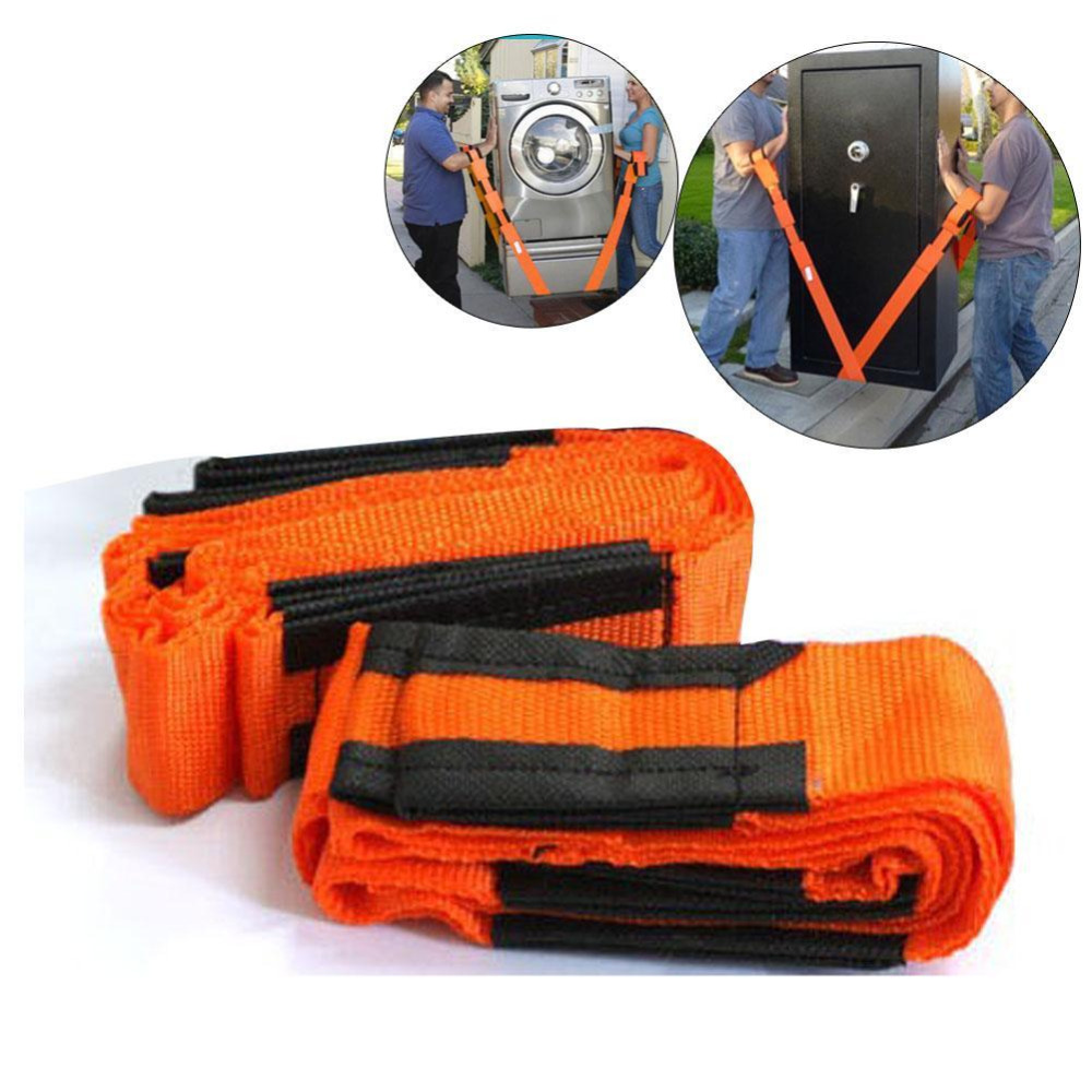 2PCS Moving Straps Forearm Delivery Transport Rope Belt Home Carry Furnishings Easier Furniture Carry Tool Conveying Belt Orange 2017 new lifting moving strap furniture transport belt in wrist straps team straps mover easier conveying belt orange
